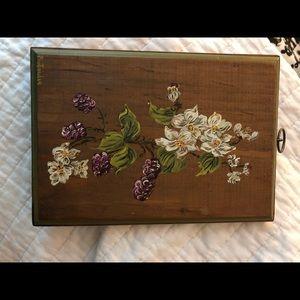 Hand painted wood flower art